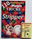110 Unbelievable Magic Tricks with a Wizard Stripper Deck Booklet and Stripper Deck Set