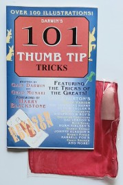 DARWIN'S 101 THUMB TIP TRICKS and Thumb tip / Silk Set