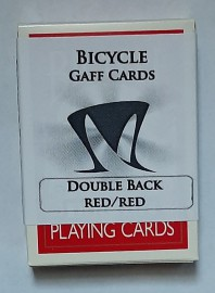 BICYCLE DECK - DOUBLE BACK- RED/RED