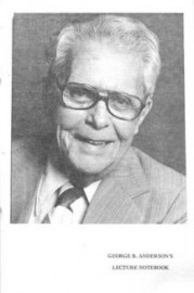 George B. Anderson's Lecture Notes